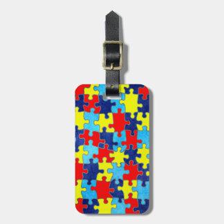 Etiqueta De Bagagem Consciência-Quebra-cabeça do autismo por Shirley