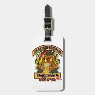 Etiqueta De Bagagem Dachshund de Oktoberfest Dopplebock