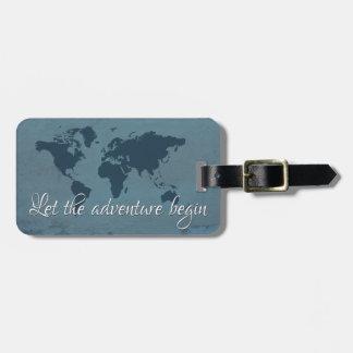 Etiqueta De Bagagem Deixe a aventura começar
