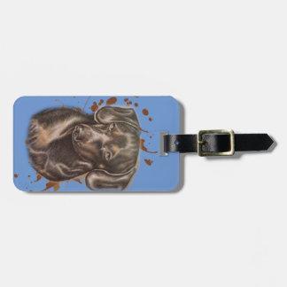 Etiqueta De Bagagem Desenho da arte e da pintura do cão do Dachshund