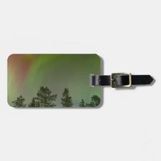 Etiqueta De Bagagem Faísca do fulgor dos céus da aurora boreal de