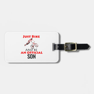 Etiqueta De Bagagem filho do cavaleiro da bicicleta