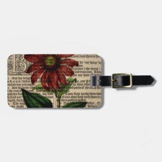 Etiqueta De Bagagem Flor roxa de Coneflower