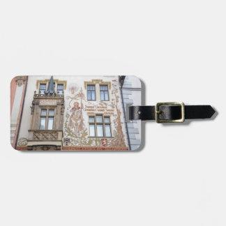 Etiqueta De Bagagem Foto da lembrança de Praga da casa de Storch