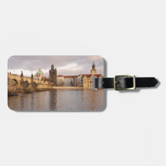 Etiqueta De Bagagem Foto velha da lembrança da cidade de Praga
