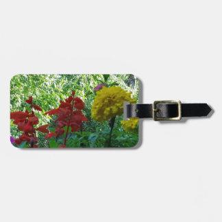 Etiqueta De Bagagem Fotografia exterior das flores vermelhas e