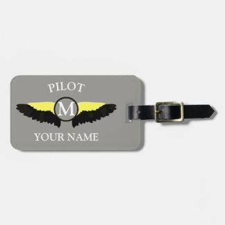 Etiqueta De Bagagem Grupo da cabine do piloto ou do avião