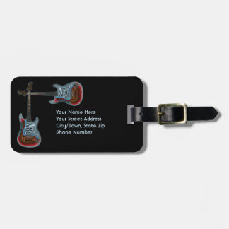 Etiqueta De Bagagem Identificação para a guitarra elétrica da fantasia