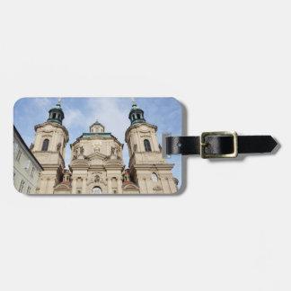 Etiqueta De Bagagem Igreja da foto da lembrança de Nicholas Praga do