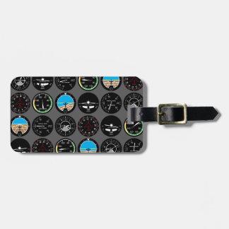 Etiqueta De Bagagem Instrumentos do vôo
