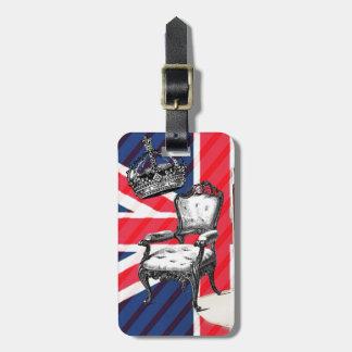 Etiqueta De Bagagem Jaque de união da coroa do victorian da cabine de