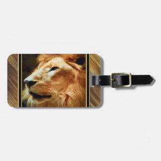 Etiqueta De Bagagem Leão majestoso de Thee