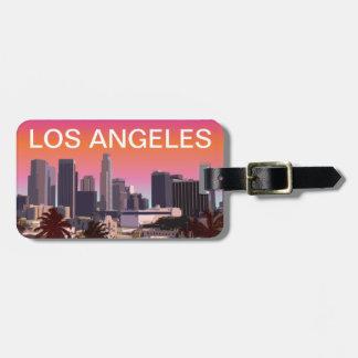 Etiqueta De Bagagem Los Angeles do centro - imagem customizável