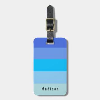 Etiqueta De Bagagem Matiz pessoais editáveis da água de azul-céu
