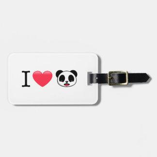 Etiqueta De Bagagem Mim panda do coração no branco
