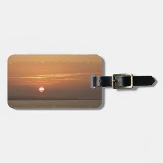Etiqueta De Bagagem Nascer do sol sobre Aruba eu caribe o Seascape