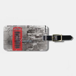 Etiqueta De Bagagem O viajante de Londres Scripts a cabine de telefone