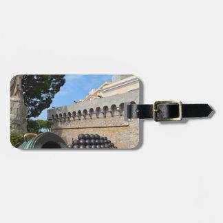Etiqueta De Bagagem Palácio de Monaco - balas de canhão e canhões
