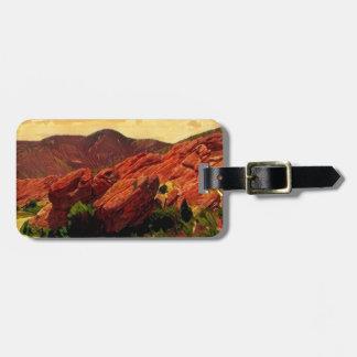 Etiqueta De Bagagem Parque vermelho Denver Colorado das rochas