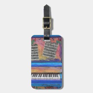 Etiqueta De Bagagem Piano colorido