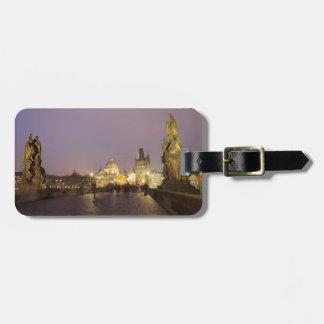 Etiqueta De Bagagem Ponte de Charles, foto da lembrança de Praga