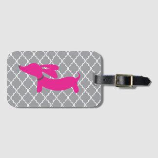 Etiqueta De Bagagem Presente cor-de-rosa do Tag do saco da bagagem do