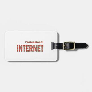 Etiqueta De Bagagem Profissional do INTERNET:  Vagem APP da rede da