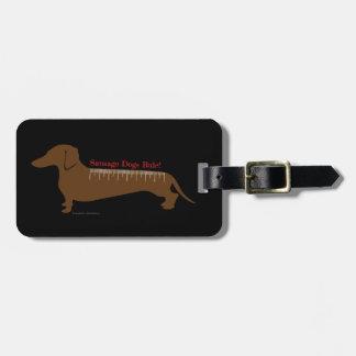 Etiqueta De Bagagem Regra dos cães de salsicha