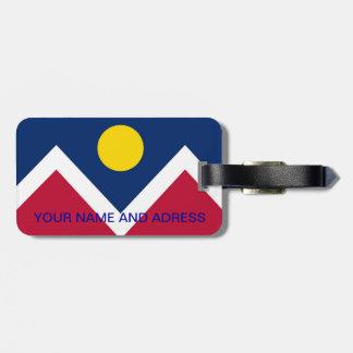 Etiqueta De Bagagem Tag da bagagem com a bandeira de Denver, Colorado