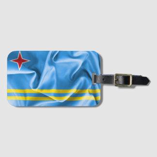 Etiqueta De Bagagem Tag da bagagem da bandeira de Aruba