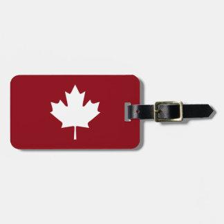 Etiqueta De Bagagem Tag da bagagem da folha de bordo de Canadá
