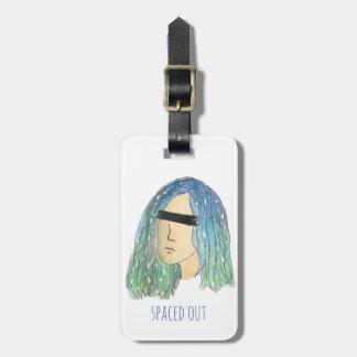 Etiqueta De Bagagem Tag da bagagem da menina da galáxia