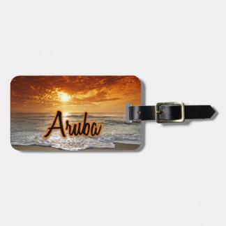 Etiqueta De Bagagem Tag da bagagem de Aruba
