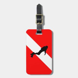Etiqueta De Bagagem Tag da bagagem do mergulhador de mergulhador