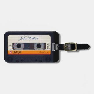 Etiqueta De Bagagem Tag formado retro da cassete áudio do vintage 80s