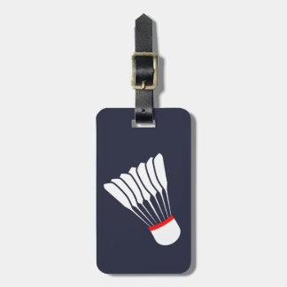 Etiqueta De Bagagem Tag gráfico da bagagem do endereço do Badminton