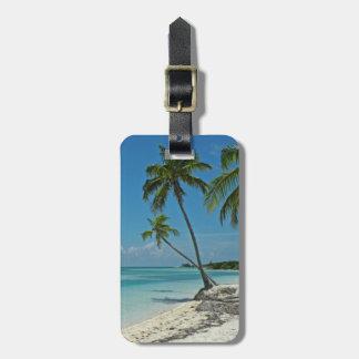 Etiqueta De Bagagem Tag tropical da bagagem da praia da ilha