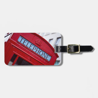 Etiqueta De Bagagem Tag vermelho da bagagem da cabine de telefone