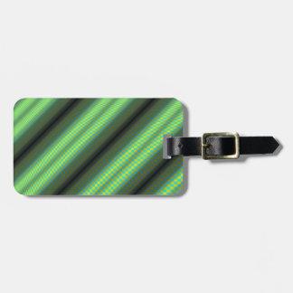 Etiqueta De Bagagem Tubos Checkered verdes & amarelos