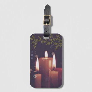 Etiqueta De Bagagem velas do Natal