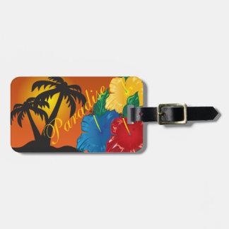 Etiqueta De Bagagem Vida em um paraíso tropical