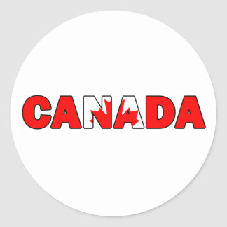 Etiqueta de Canadá Adesivo