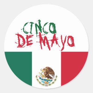 Etiqueta de Cinco de Mayo Adesivo