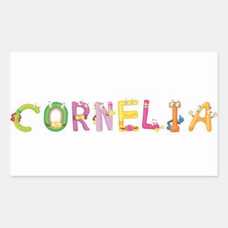 Etiqueta de Cornelia