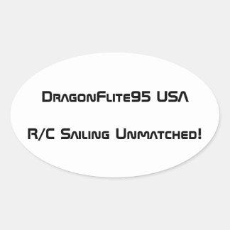 Etiqueta de DragonFlite 95 EUA Adesivo Oval