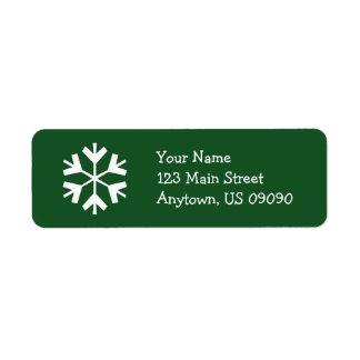 Etiqueta de endereço A do floco de neve