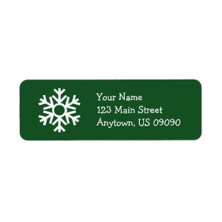 Etiqueta de endereço C do floco de neve