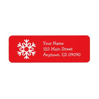 Etiqueta de endereço C do floco de neve (vermelha)