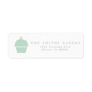 Etiqueta de endereço chique do cupcake