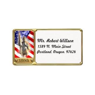 Etiqueta de endereço comemorativa do soldado da
